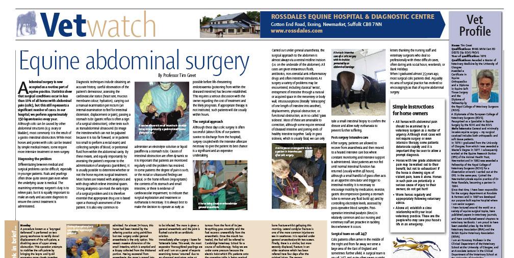 Equine Abdominal Surgery
