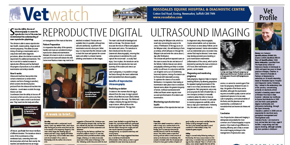 Reproductive Digital Ultrasound Imaging